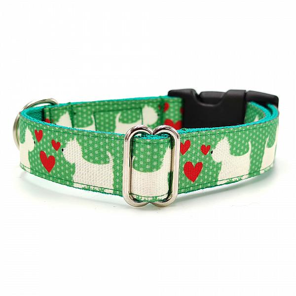 Westie green collar