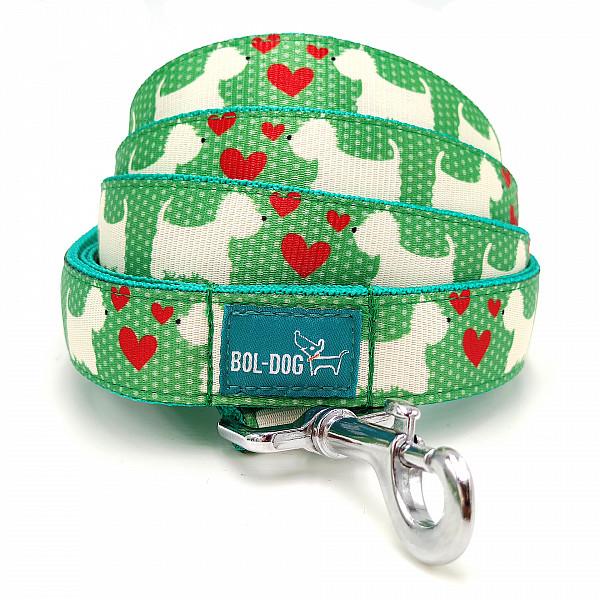 Westie green dog leash