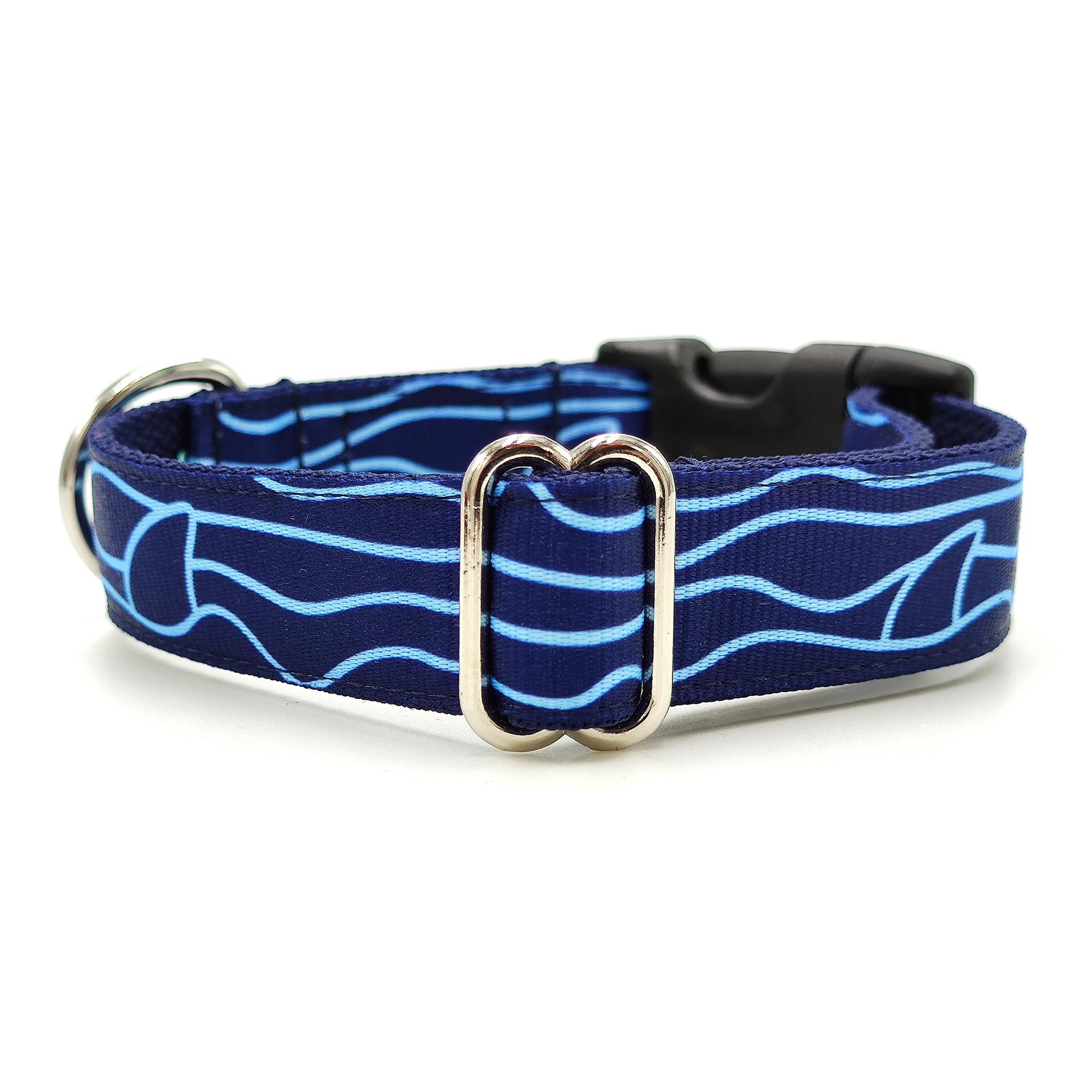 cápa mintás kék nyakörv
