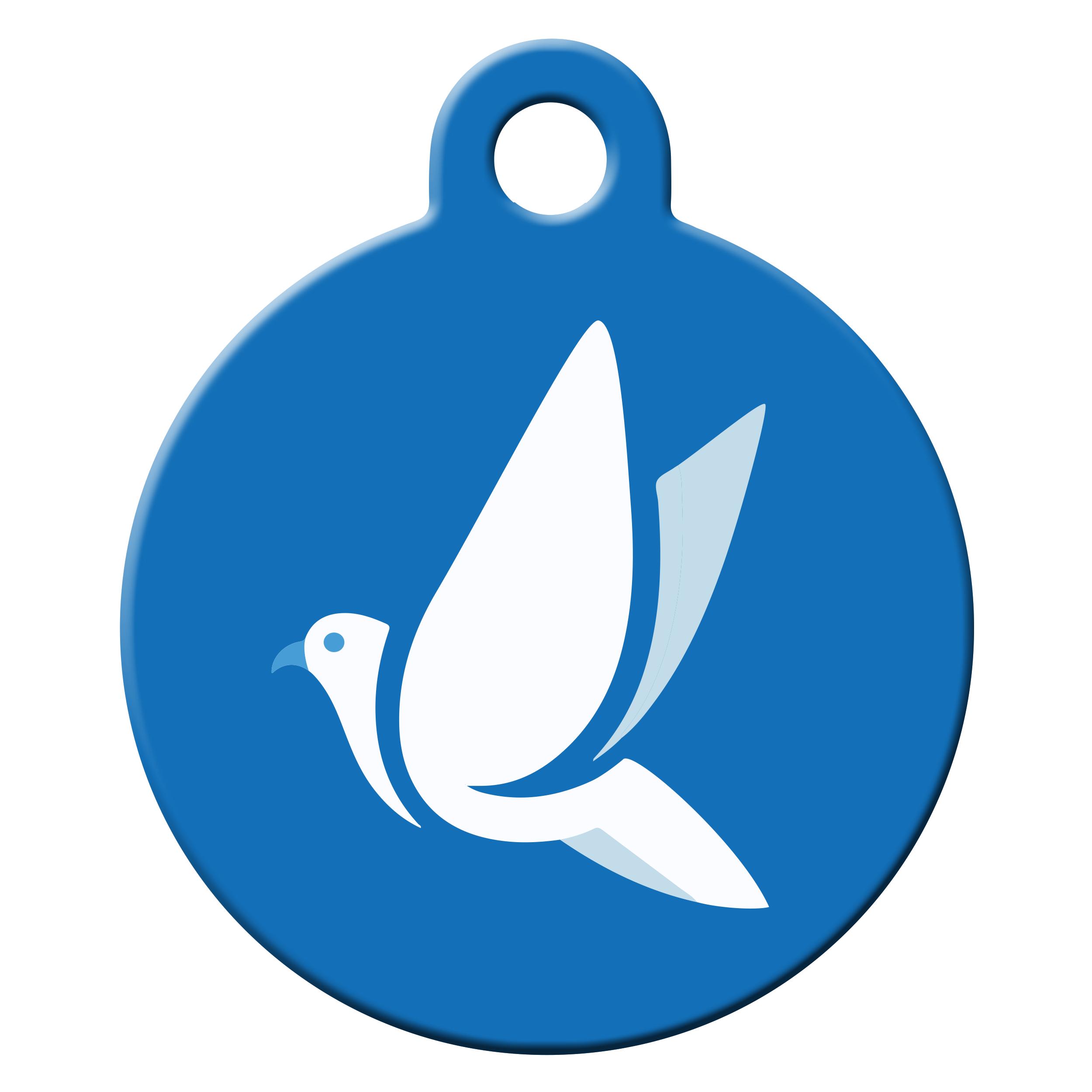 kék madár mintás biléta