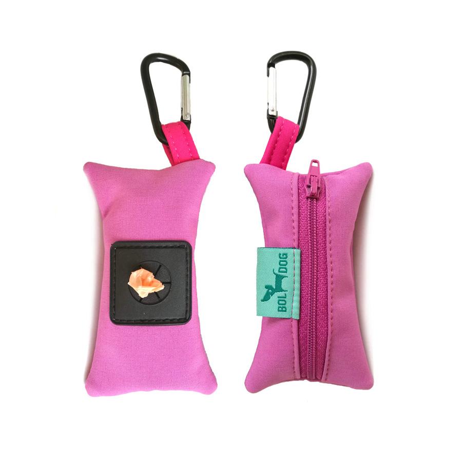 Orgona lila színű textil kutyapiszok zacskó tartó